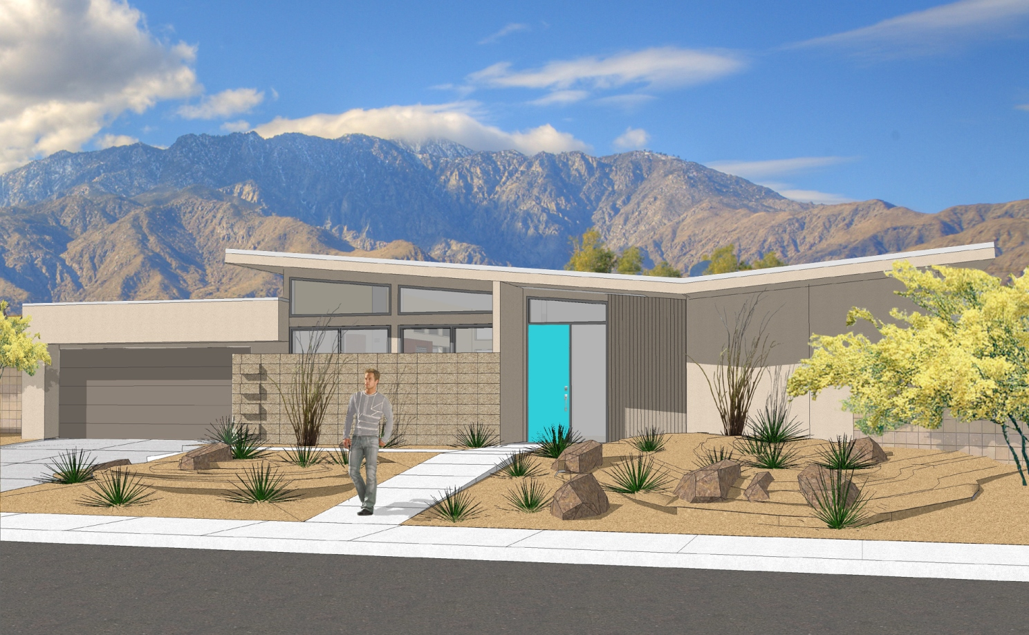 New mid century inspired homes in central palm springs for Modern new homes