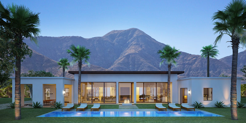 Monte sereno luxury homes in south palm springs palm for New modern homes palm springs