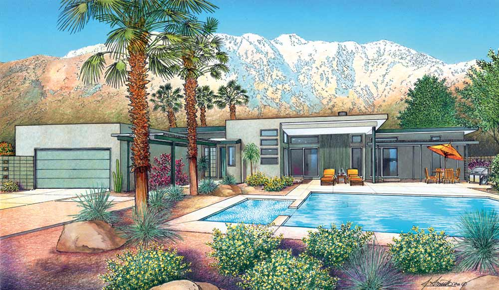 Palm springs mid century living while taking full for New modern homes palm springs