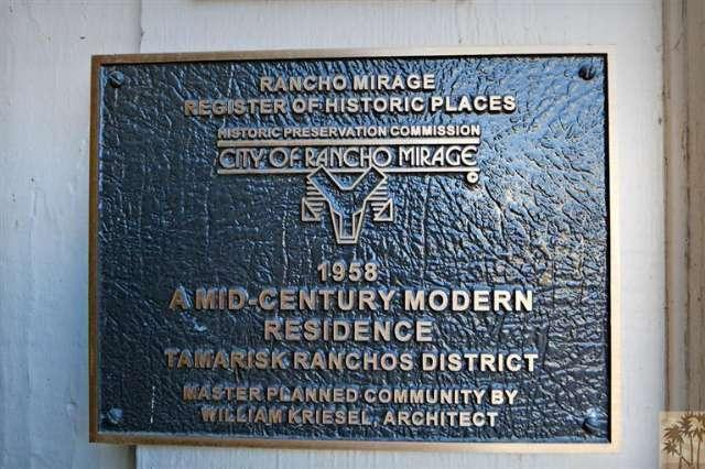 Rancho Mirage mid century modern and historical Real Estate for sale