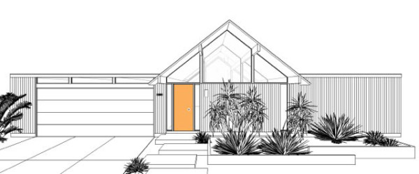 New Palm Springs home constructions based on original Eichler plans