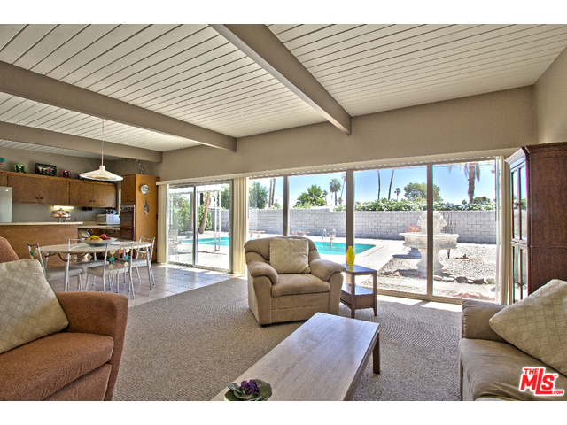 Mid Century Modern home with wall of glass in Sunrise Park
