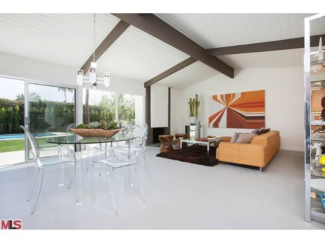 Living room of mid-century home in Sunrise Park