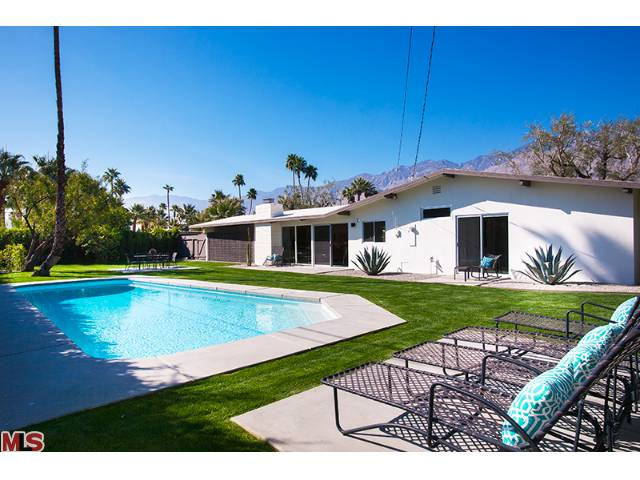 Yard of mid-century home in Sunrise Park