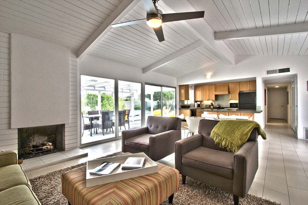 Large open living room in Sunrise Park, Palm Springs, CA