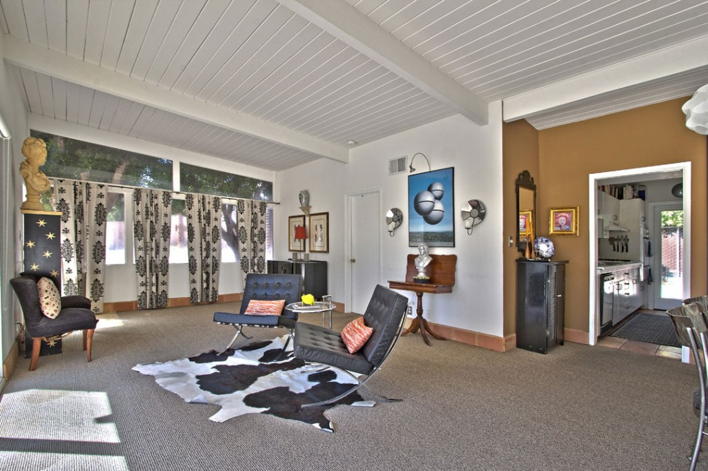 Meiselman Mid-century modern living room with rare clerestory windows