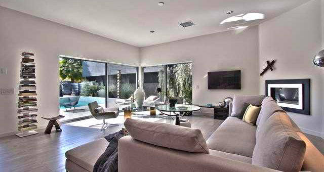 Large and open living room at The Morrison, Palm Springs, Ca