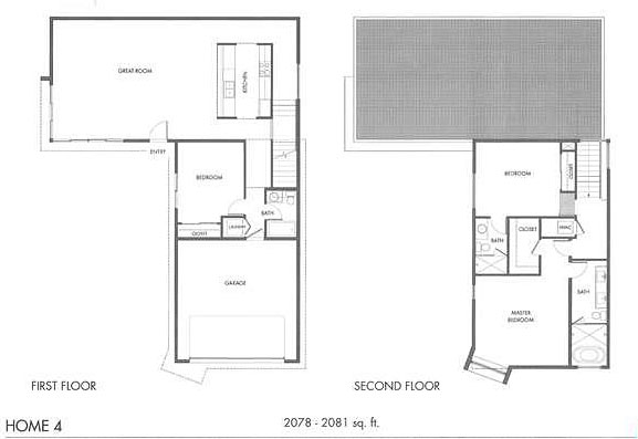 Floor plan of home 4 at The Morrison, Palm Springs, Ca