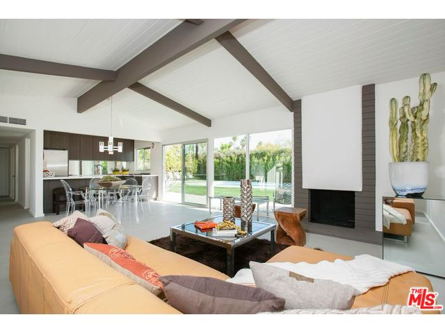 Palm springs mid-century home with open floor plan