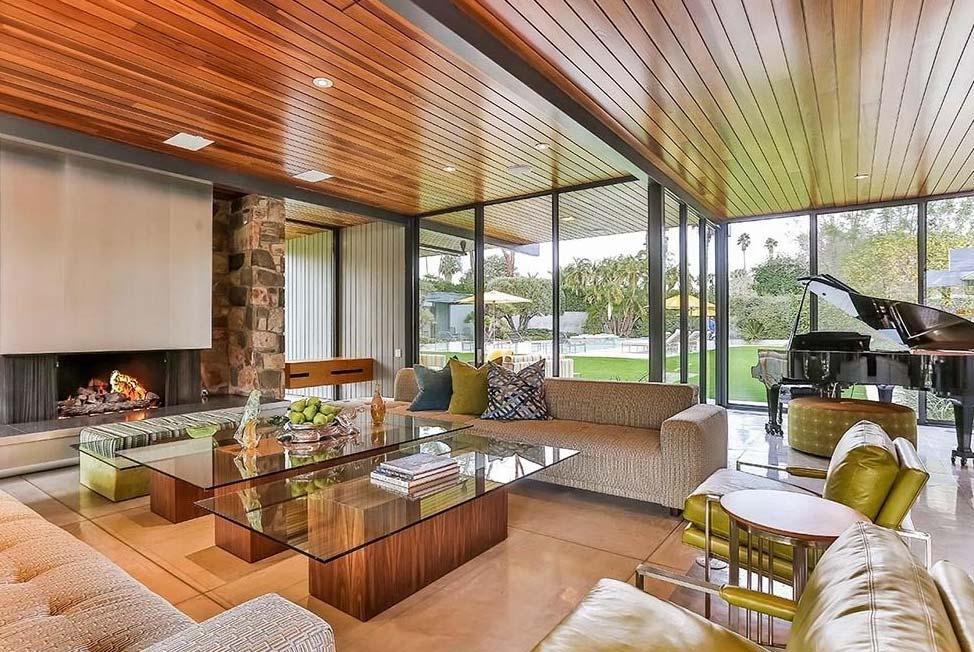 Dinah Shore House Palm Springs Leo Dicaprio Living