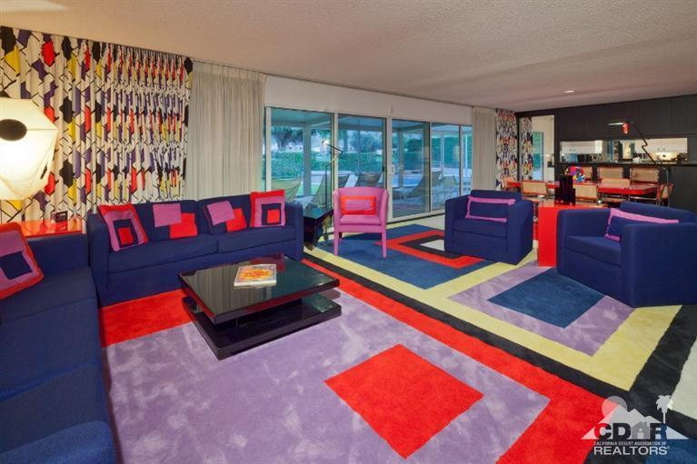Living room of the Walt Disney residence, Palm Springs