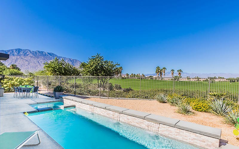 Mountain views from Palm Springs home