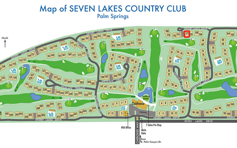 Map of Seven Lakes Country Club