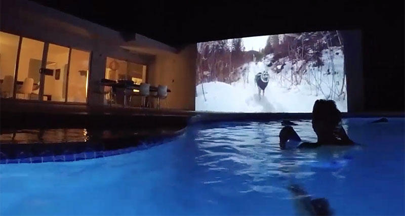 Outdoor movies in your own backyard