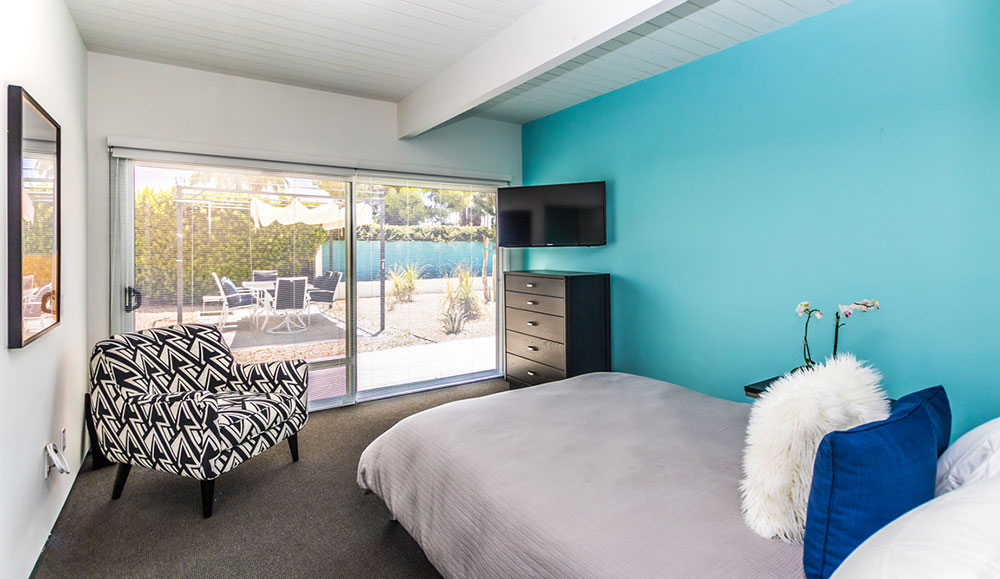 Guest bedroom at 404 Monterey rd, Palm Springs, CA
