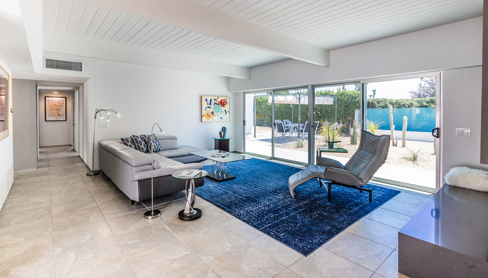 Living room at 404 Monterey rd, Palm Springs, CA