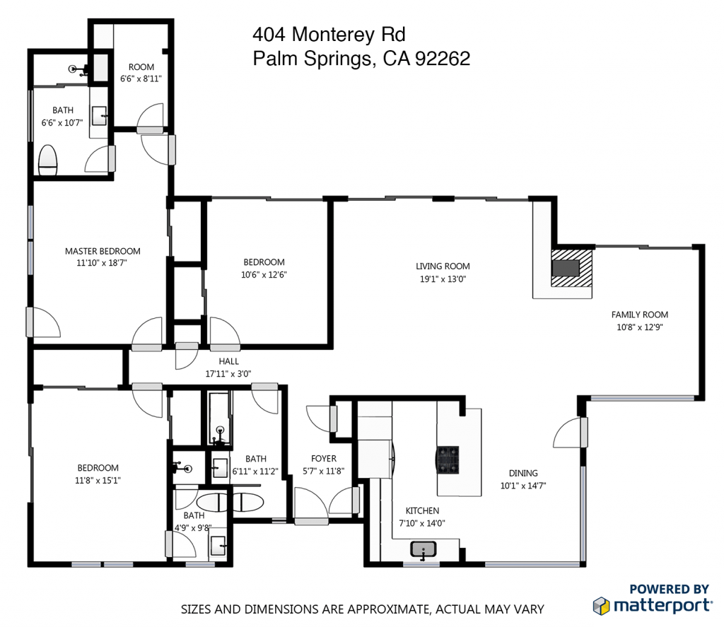 Architecture palm springs real estate for Kaplan floor plan