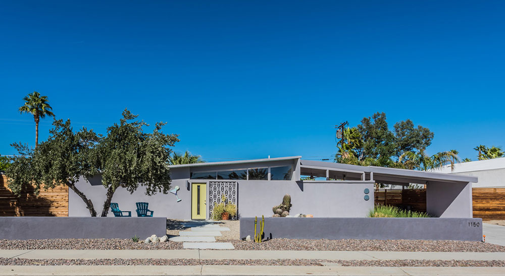 1150 East Adobe Way, Palm Springs; Front of house