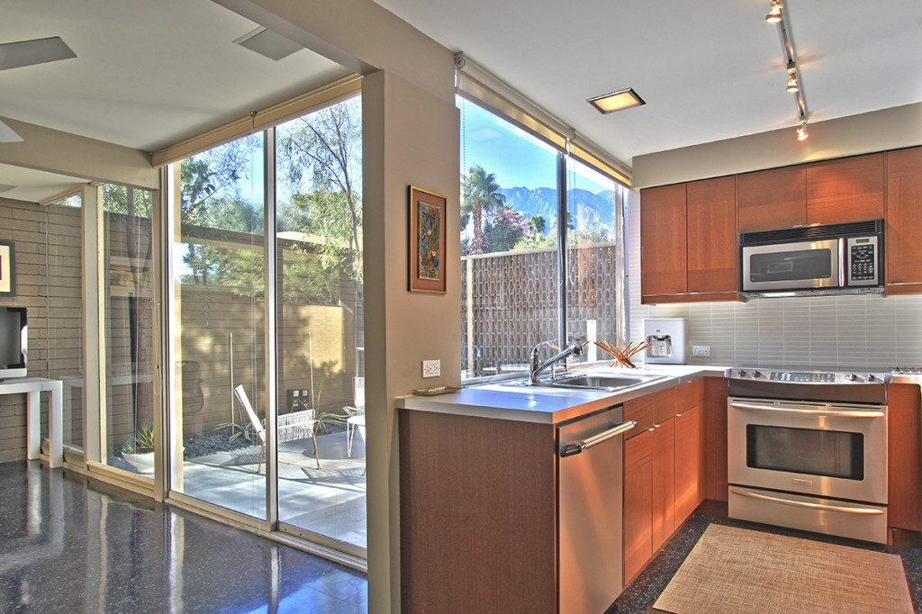 Kitchen of a condo at the Racquet Club Garden Villas, Palm Springs, CA