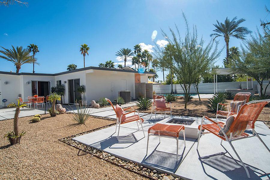 Desert landscape at 593 N Juanita Verde, Palm Springs