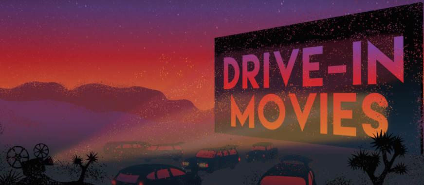 Drive in movies at Joshua Tree Festival Site
