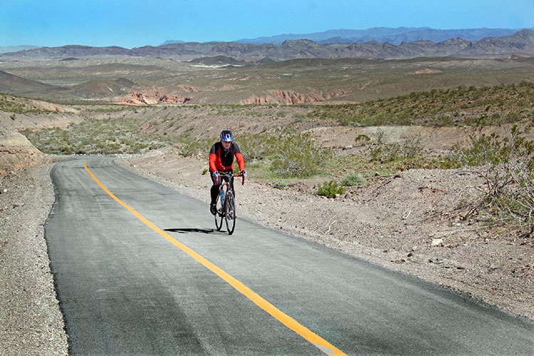 Bike Rider in the Palm Springs area